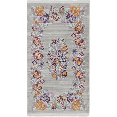 Rune Gray Area Rug Rug Size: Rectangle 4 x 6