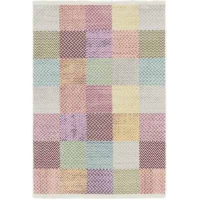 Szymanski Red/Gray Area Rug Rug Size: Rectangle 67 x 96