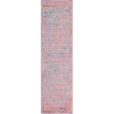 Rune Pink Area Rug Rug Size: Rectangle 62 x 89