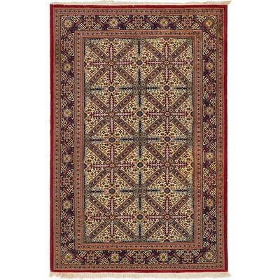 One-of-a-Kind Wollano Persian Hand Woven Wool Rectangle Beige Area Rug