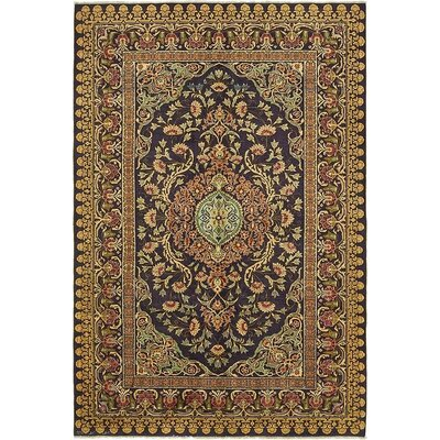 One-of-a-Kind Wollano Persian Hand Knotted Wool Purple Area Rug