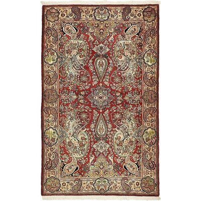 One-of-a-Kind Bellingdon Traditional Persian Hand Woven Wool Red Area Rug