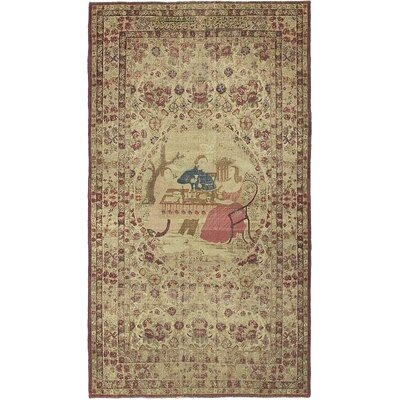 One-of-a-Kind Wollano Persian Hand Woven Wool Beige Area Rug