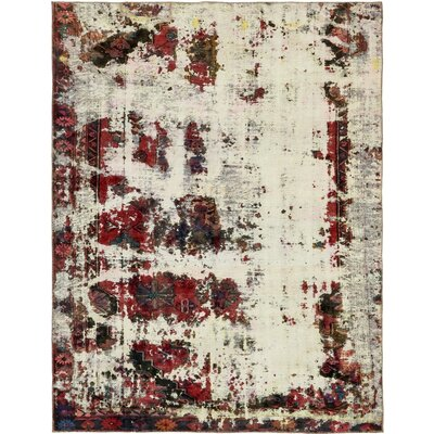 One-of-a-Kind Althoff Vintage Persian Hand Woven Wool Ivory Area Rug
