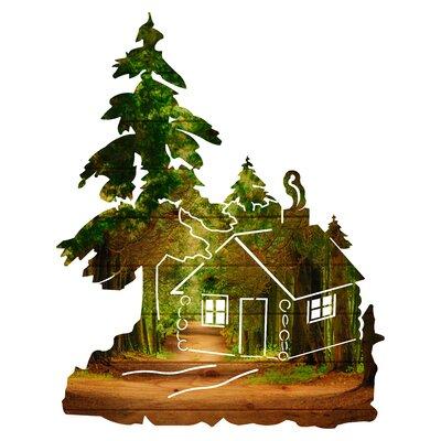 'Cabin in the Woods in Woods Path' Graphic Art 76DA38A3625345DA83928F3E7B8ACFB7