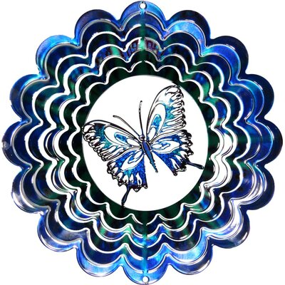 Eycatcher Kaleidoscope Butterfly Wind Spinner Size: Small, Color: Purple
