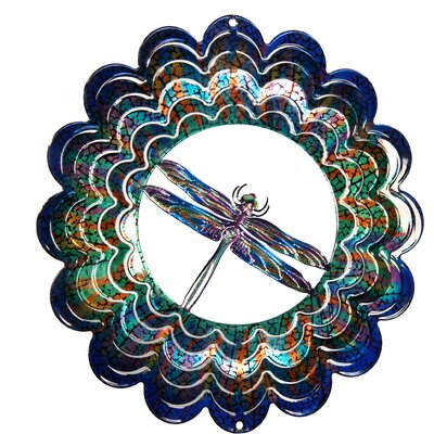 Eycatcher Kaleidoscope Dragonfly Wind Spinner Size: Medium