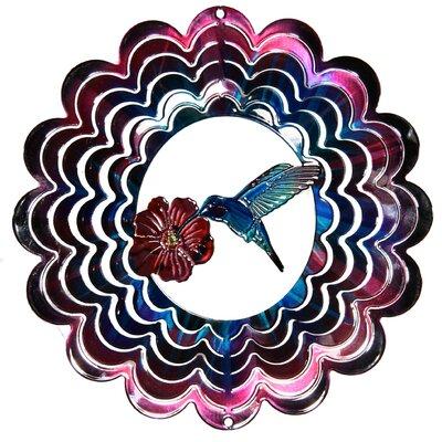 Eycatcher Kaleidoscope Hummingbird Wind Spinner Color: Fuchsia, Size: Small