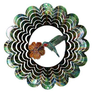 Eycatcher Kaleidoscope Hummingbird Wind Spinner Size: Medium, Color: Green