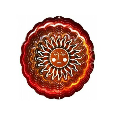 Eyecatchers Sun Face Wind Spinner Color: Red / Copper