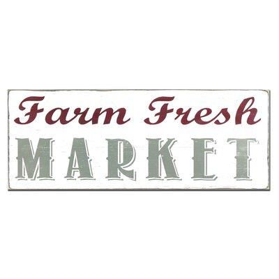 Farm Fresh Market Textual Art Plaque 01-1024-farm