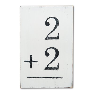 Flash Card Textual Art Plaque Flashcard Numbers: 2+9