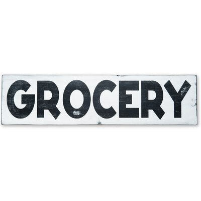 Grocery Textual Art Plaque