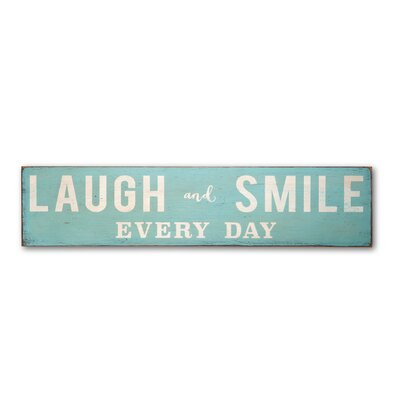 Laugh And Smile Every Day Landscape Textual Art Plaque