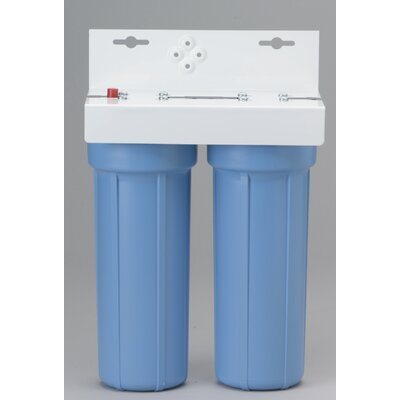 Two Slim Line Housing Water Filtration System