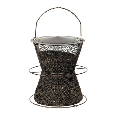 Original Hourglass Tube Bird Feeder Finish: Bronze