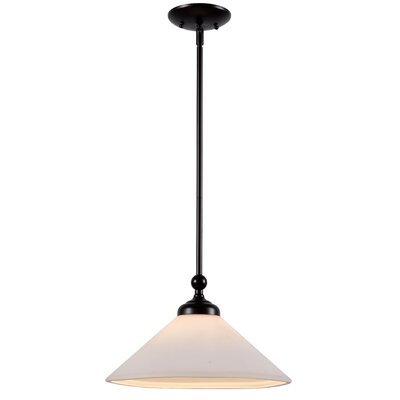 Otesha 1-Light Inverted Pendant Finish: Brushed Steel