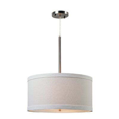 Shelley 2-Light Drum Pendant Finish: Brushed Steel