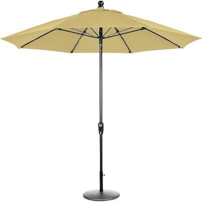 9 Market Umbrella Frame Finish: Brown, Fabric: Wheat