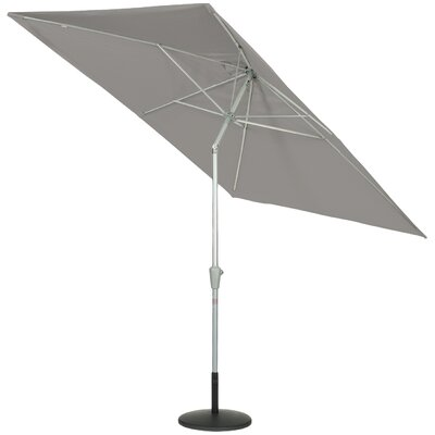 9 QuickSilver Rectangular Market Umbrella Fabric: Sunbrella Graphite