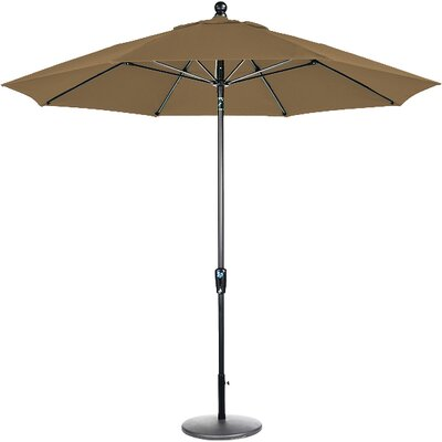 9 Market Umbrella Frame Finish: Black, Fabric: Cocoa
