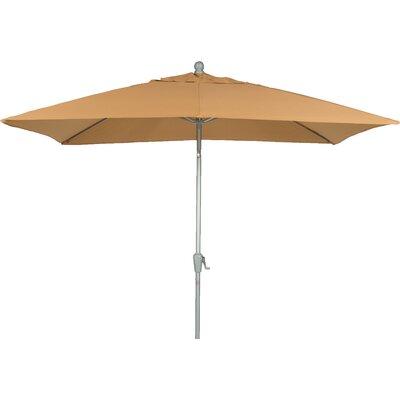 9 QuickSilver Rectangular Market Umbrella Fabric: Olefin Yellowish Brown