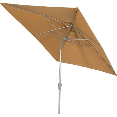 9 QuickSilver Rectangular Market Umbrella Fabric: Olefin Yellowish Brown