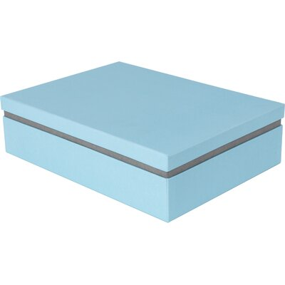 Albin Floating Storage Box Color: Blue/gray