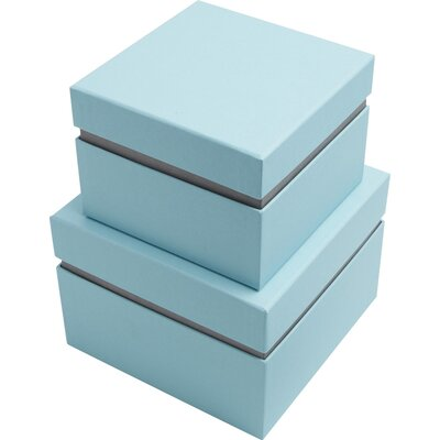 Pursley 2 Piece Floating Box Color: Blue/Grey
