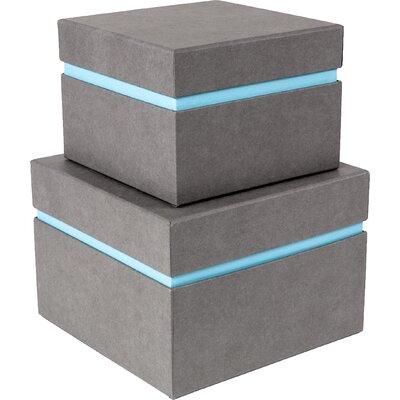 Alva 2 Piece Floating Box Color: Grey/blue