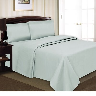 Elegance Luxury 90 GSM Sheet Set Size: King, Color: Baby Blue