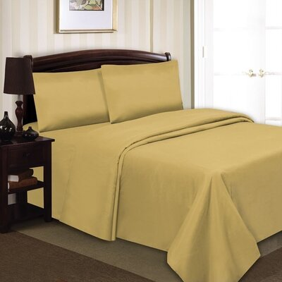 Elegance Luxury 90 GSM Sheet Set Size: King, Color: Gold