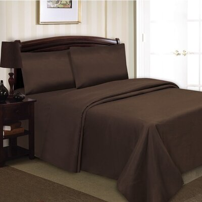 Elegance Luxury 1000 Thread Count 90 GSM Sheet Set Color: Chocolate, Size: Queen
