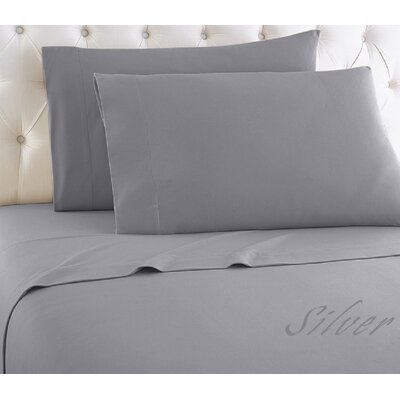 Crosland 1000 Thread Count Quality Cotton Sheet Set Size: King, Color: Silver