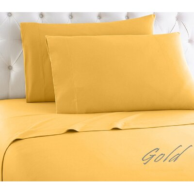 Crosland 1000 Thread Count Quality Cotton Sheet Set Size: Twin, Color: Gold