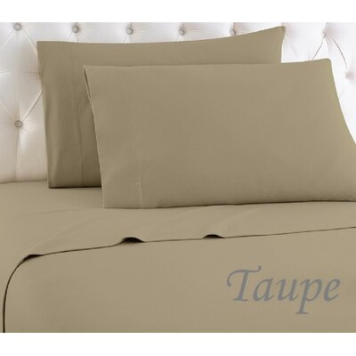 Crosland 1000 Thread Count Quality Cotton Sheet Set Size: King, Color: Taupe