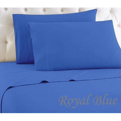 1000 Thread Count Egyptian-Quality Cotton Sheet Set Color: Royal Blue, Size: King