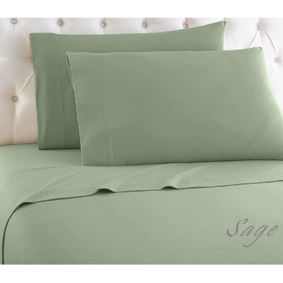 1000 Thread Count Egyptian-Quality Cotton Sheet Set Color: Sage, Size: Queen