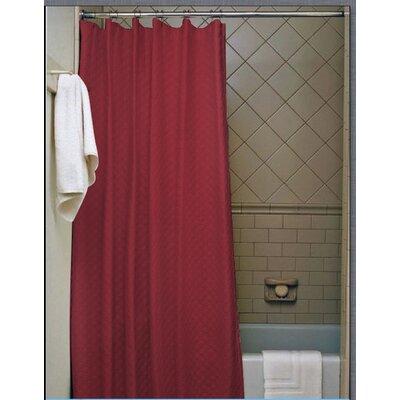 Vinyl Shower Curtain Color: Burgundy