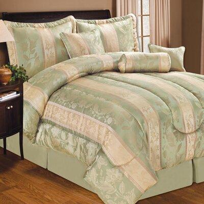 Soho Hotel 7 Piece Comforter Set Color: Sage, Size: King