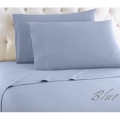 1000 Thread Count Egyptian-Quality Cotton Sheet Set Color: Blue, Size: King