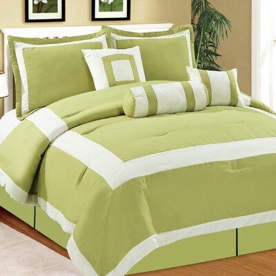 Hotel 7 Piece Comforter Set Size: King, Color: Lime Green