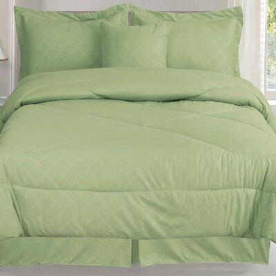 Lush 7 Piece Queen Comforter Set Color: Sage