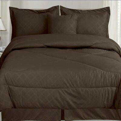 Lush 7 Piece Queen Comforter Set Color: Chocolate