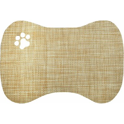 Face Pet Bowl Mat Color: Tan and Grey