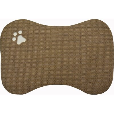 Face Pet Bowl Mat Color: Grey and Brown