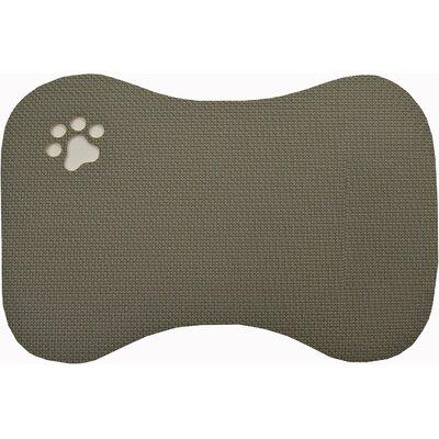 Claudia Face Pet Bowl Mat Color: Grey
