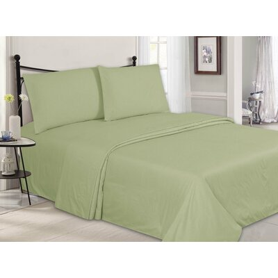 Ultra-Luxe Double-Brushed 4 Piece Sheet Set Size: King, Color: Mint