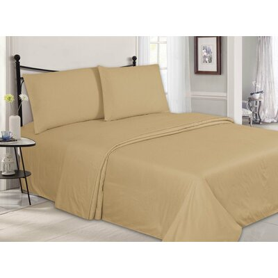 Ultra-Luxe Double-Brushed 4 Piece Sheet Set Color: Taupe, Size: Full