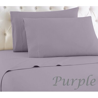 Crosland 1000 Thread Count Quality Cotton Sheet Set Size: King, Color: Purple